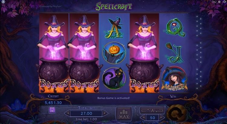 игровой автомат Spellcraft