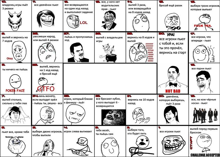 Алкогольная игра с мемами