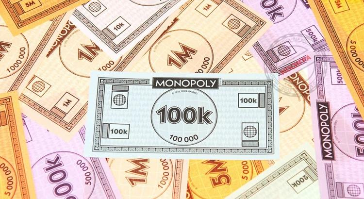 Цветные деньги для монополии распечатать в pdf