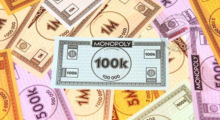 Шаблоны денег для монополии цветные