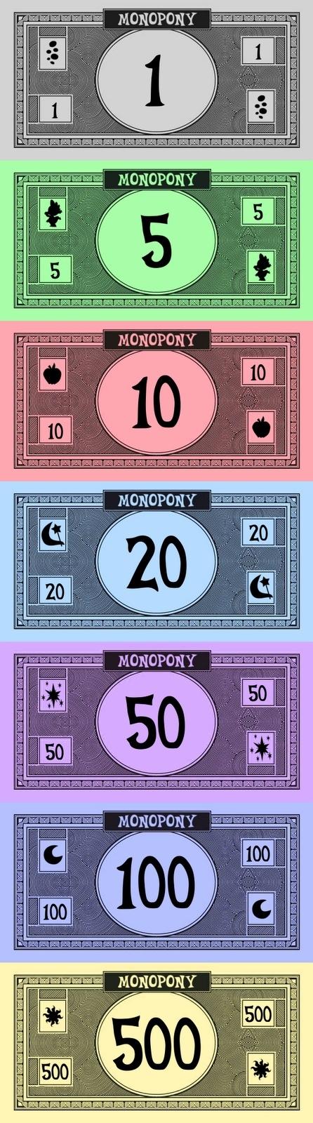 монополия деньги печать