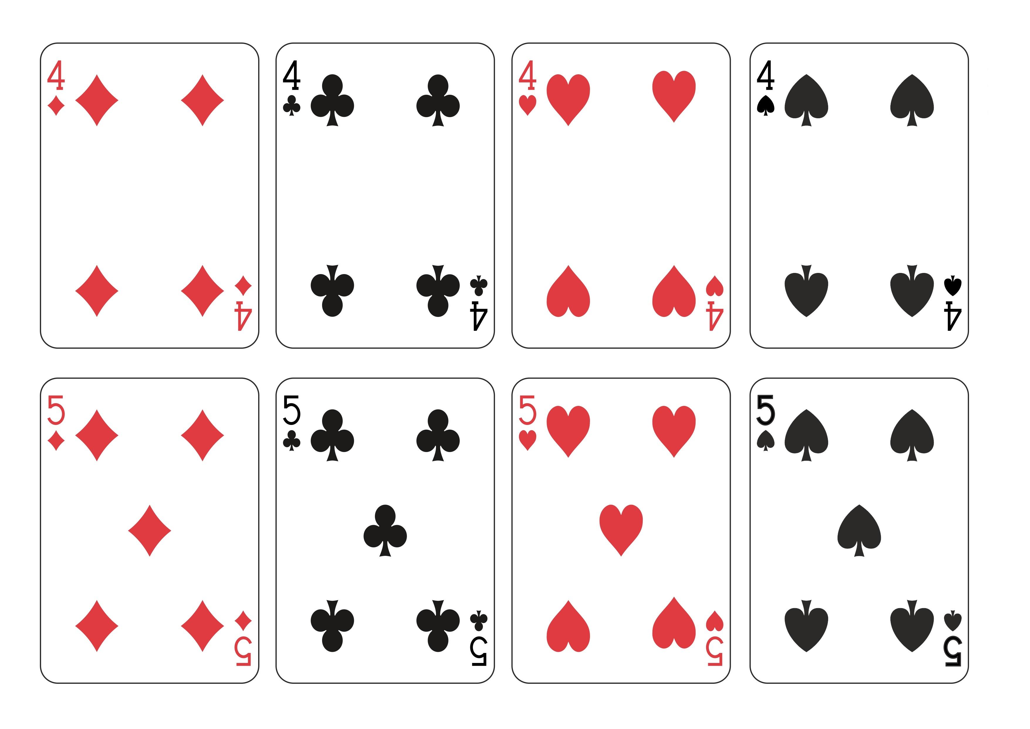 Распечатать игральные карты на принтере