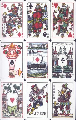 Распечатать игральные карты в русском стиле