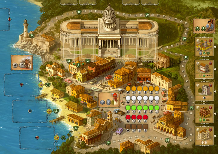 Настольная игра Куба и дополнение Эль Президенте