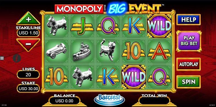 Игровой автомат Monopoly Big Event