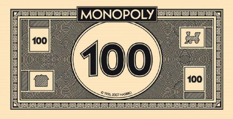 Монополия деньги 1000