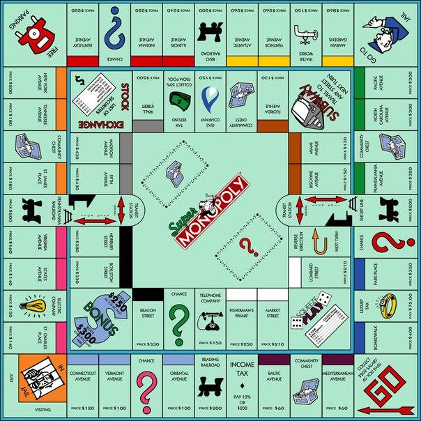 Карточки для монополии с двумя кругами