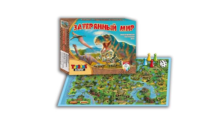 Настольная игра охота на динозавров в затерянном мире