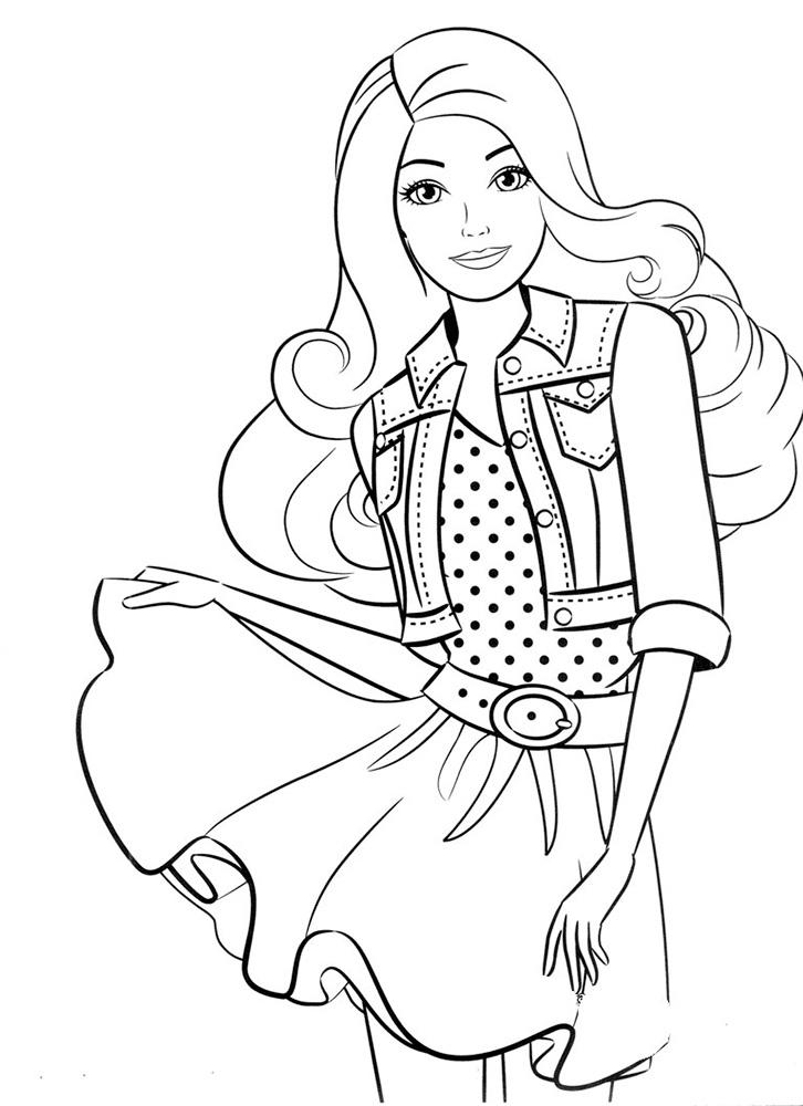Распечатать Барби: раскраска для девочек → slotObzor.com