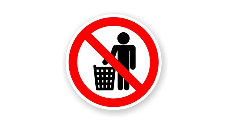 Табличка Не мусорить распечатать