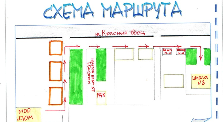 Как сделать карту от дома до школы