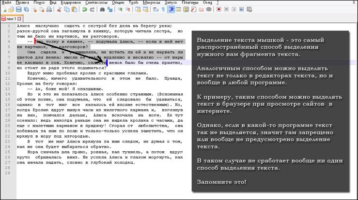Как можно распечатать только выделенную часть текста