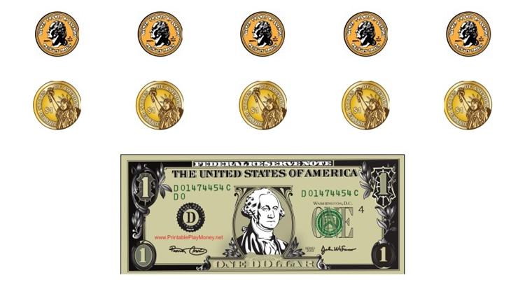 Распечатать монеты для игры